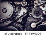close up car engine  internal... | Shutterstock . vector #547594309