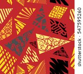 geometric modern seamless... | Shutterstock .eps vector #547595260