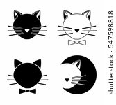 cats icons on white   set. cats ... | Shutterstock .eps vector #547598818