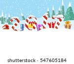 christmas winter banners with... | Shutterstock .eps vector #547605184