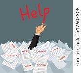 hand of businessman emerging...   Shutterstock .eps vector #547607308