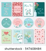 valentine's day greeting card... | Shutterstock .eps vector #547608484