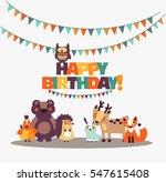 happy birthday   lovely vector... | Shutterstock .eps vector #547615408