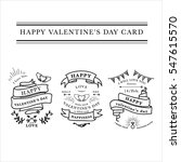 happy valentines day lettering... | Shutterstock .eps vector #547615570