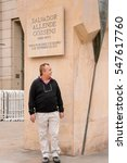 Small photo of SANTIAGO, CHILE - NOV 1, 2014: Unidentified Chilean man walks in Santiago. Chilean people are mainly of mixed Spanish and Amerindian descent