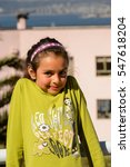 Small photo of VALPARAISO, CHILE - NOV 9, 2014: Unidentified Chilean girl portrait in Valparaiso. Chilean people are of mixed Spanish and Amerindian descent