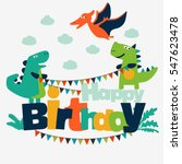 happy birthday   lovely vector... | Shutterstock .eps vector #547623478