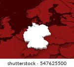 Germany Map 3d Illustration