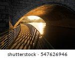 Walking Under A Bridge Over Th...