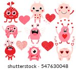 vector love set of cute... | Shutterstock .eps vector #547630048