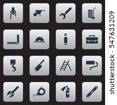 set of 16 editable equipment... | Shutterstock .eps vector #547631209