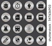 set of 16 editable education... | Shutterstock .eps vector #547636903