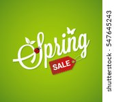 spring sale lettering design... | Shutterstock .eps vector #547645243