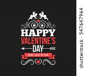 valentines day border vintage...   Shutterstock .eps vector #547647964