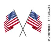 two crossed united states  usa  ... | Shutterstock .eps vector #547651258