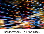 Abstract background of Blurry colorful of motions LED lights