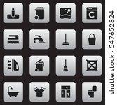 set of 16 editable hygiene... | Shutterstock . vector #547652824