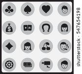 set of 16 editable gambling...