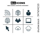 set of 9 internet icons.... | Shutterstock .eps vector #547654210