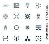 set of 16 machine learning... | Shutterstock .eps vector #547656103