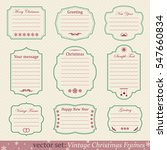vector set of vintage christmas ... | Shutterstock .eps vector #547660834