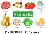 vitamin b2 food sources on... | Shutterstock .eps vector #547661299