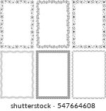 set of different six frame... | Shutterstock .eps vector #547664608