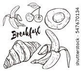 delicious breakfast food ... | Shutterstock .eps vector #547670134