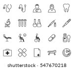 medical icon set isolated on... | Shutterstock .eps vector #547670218