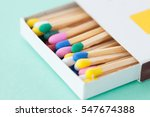wooden matches in pastel colors ... | Shutterstock . vector #547674388
