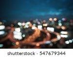 city blur as bokeh texture ...   Shutterstock . vector #547679344