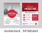 flyer   leaflet   brochure... | Shutterstock .eps vector #547681663