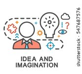 idea and imagination icons.... | Shutterstock .eps vector #547687576