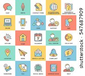 icons contact us. methods of... | Shutterstock .eps vector #547687909