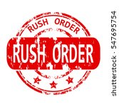 rubber stamp with the word rush ...   Shutterstock .eps vector #547695754
