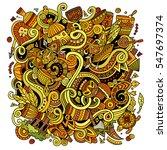 cartoon cute doodles hand drawn ... | Shutterstock .eps vector #547697374