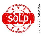 rubber stamp with the word sold ...   Shutterstock .eps vector #547699804