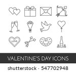 line thin icons for saint... | Shutterstock .eps vector #547702948