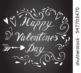 vector happy valentines day...   Shutterstock .eps vector #547703470