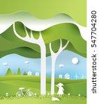 eco paper art design style  ... | Shutterstock .eps vector #547704280