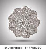 vector mandala for coloring... | Shutterstock .eps vector #547708390