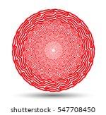 vector mandala for coloring... | Shutterstock .eps vector #547708450