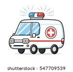 Ambulance Car Lights Vector...