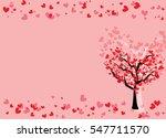 Red Heart Tree Valentine Card...