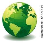 green world globe   editable... | Shutterstock .eps vector #54771454