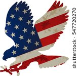 american eagle and flag | Shutterstock .eps vector #547720270