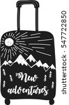 new adventures. suitcase... | Shutterstock .eps vector #547722850
