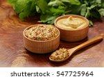 natural mustard  seasoning and...   Shutterstock . vector #547725964