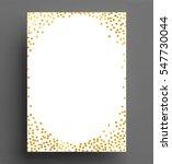 gold confetti polka dot... | Shutterstock .eps vector #547730044