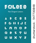 folded flat origami letters | Shutterstock .eps vector #547730848